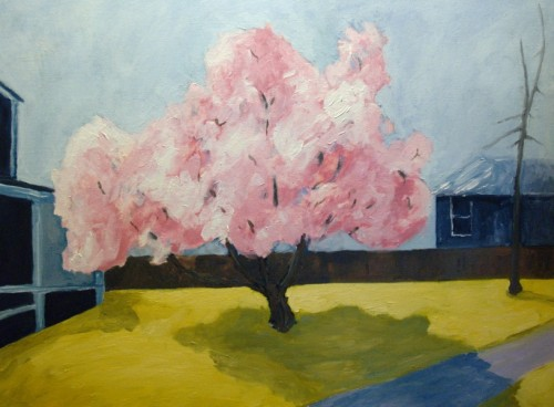 Magnolia Tree painting