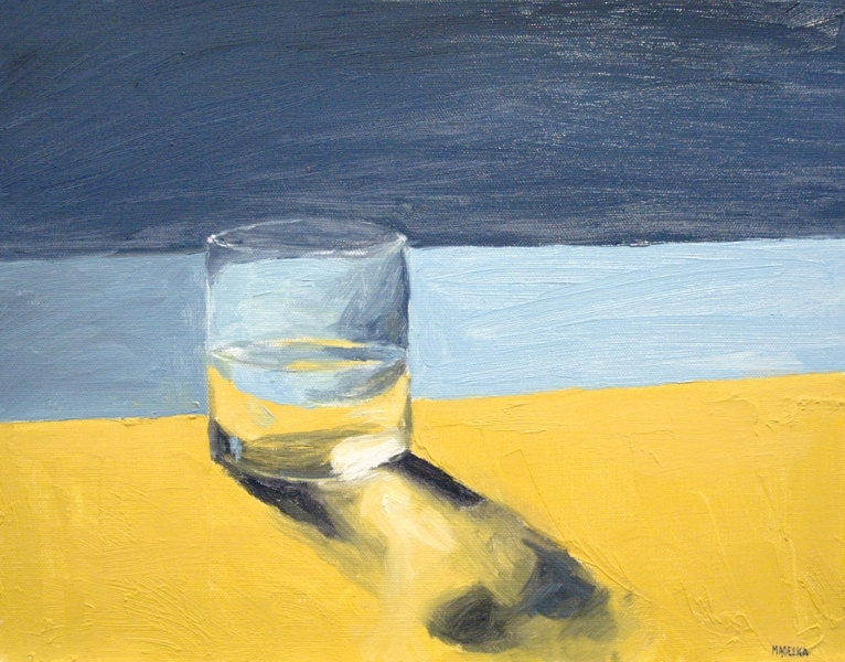 "Glass of Water, oil on canvas, 11""x14"", 2012 - sold - Ben ..."