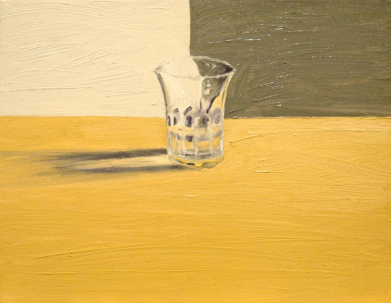 "Glass of Water, oil on canvas, 11""x14"", 2012 - Ben Madeska"