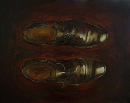Brown Shoes Painting