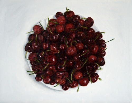 Cherries Painting