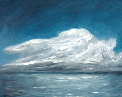 Storm Cloud, Lake Monona painting