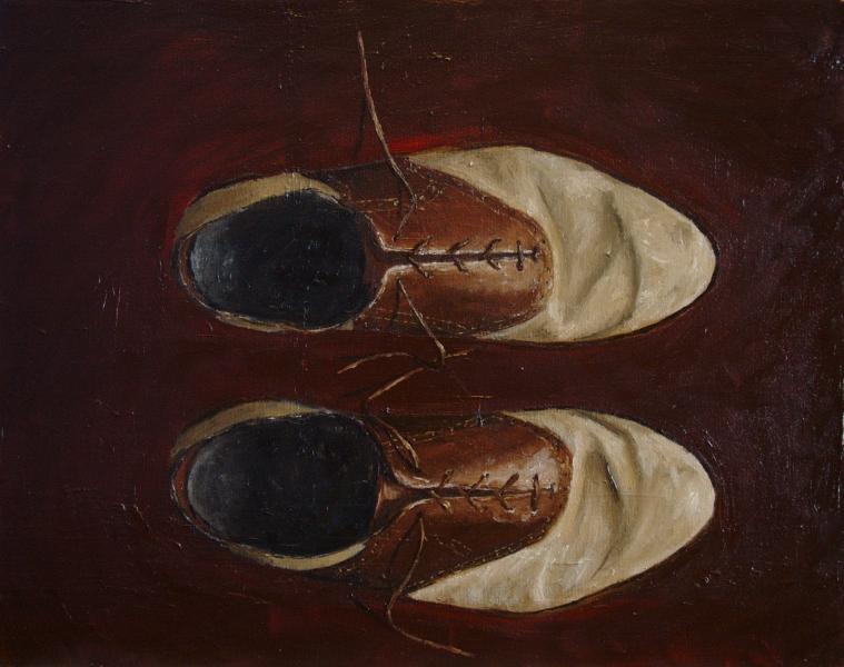 Saddle Shoes painting