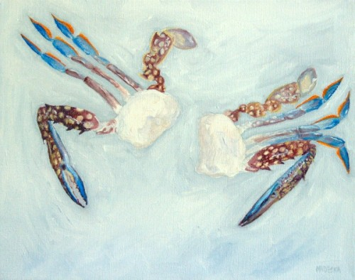 Blue Crab painting