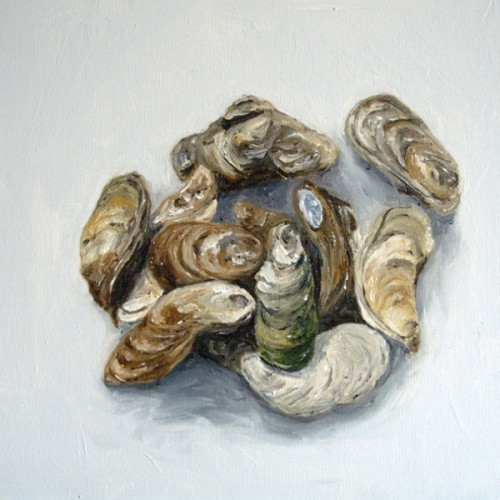 Oysters painting