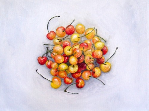 Rainier Cherries painting