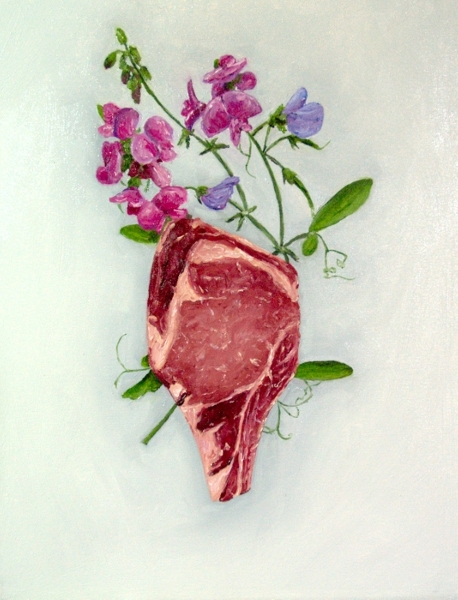Ribeye with Sweet Pea painting