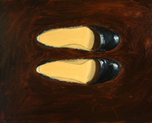 Black Shoes painting