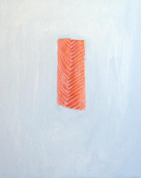 Salmon painting