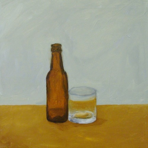 Bottle and Glass painting