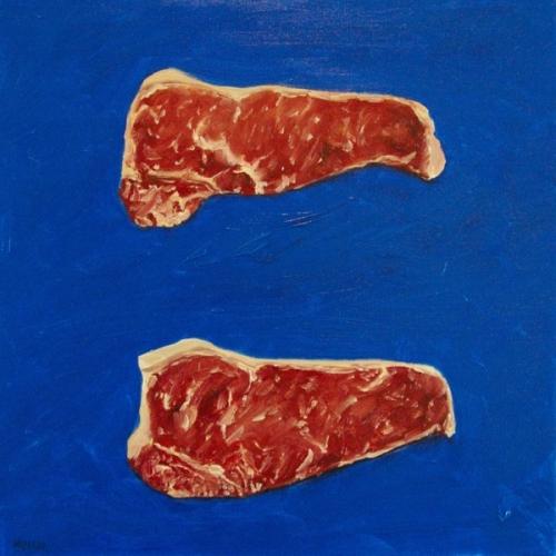 New York Strip Steaks paintig