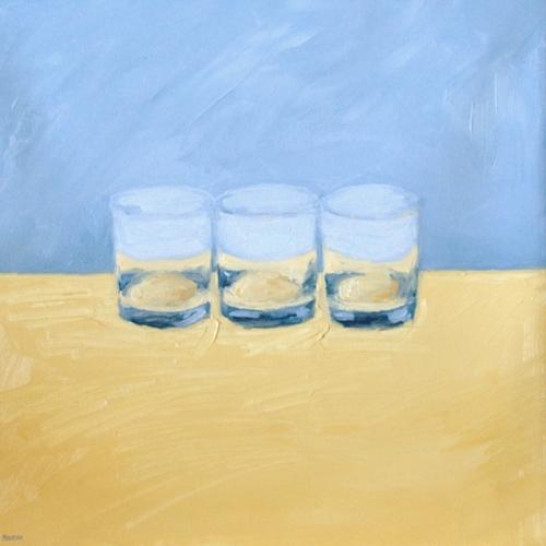 Three Glasses painting