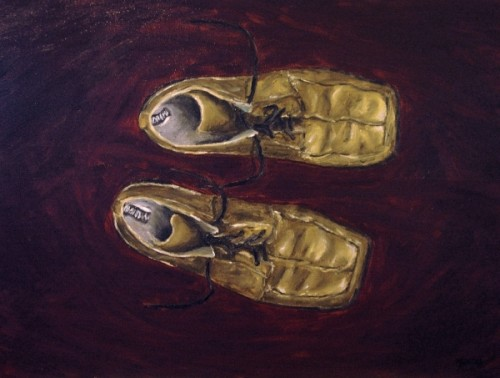 Joey's Boots painting