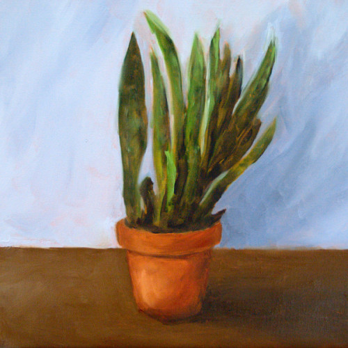 Snake Plant painting