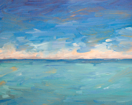 Lake Michigan painting