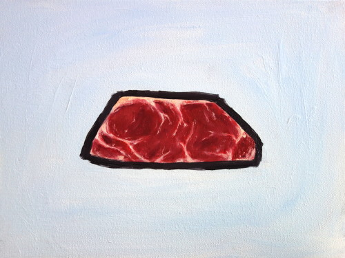Steak painting