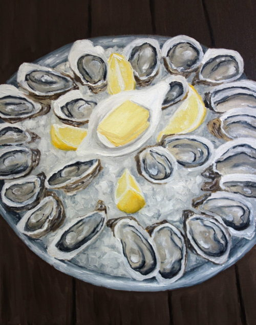 Plate of Oysters painting